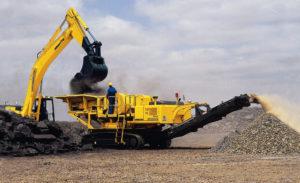 MMI Komatsu Jaw Crusher BR350JG for crushing of aggregates and hard rock processing
